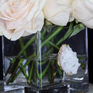 DIY Faux Crystal Vase | DIY Vase Ideas | DIY Vase Decor | Vase Decorating Ideas | Faux Crystal DIY | DIY Faux Crystals | How to Make Crystals