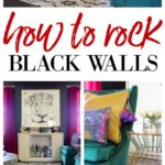 Love black walls but not sure how to decorate with them? Here are great decorating ideas for rooms with black walls!