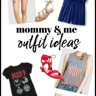 Non-Cheesy Mommy and Me Outfits including mommy and me dresses and shirts.