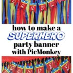 This tutorial will teach you how to make a party banner with PicMonkey. Customize the DIY party banner with your party theme - easy DIY Party Decor!