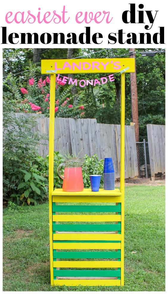 How to Make a Lemonade Stand Using Wooden Crates - Rain on a Tin Roof