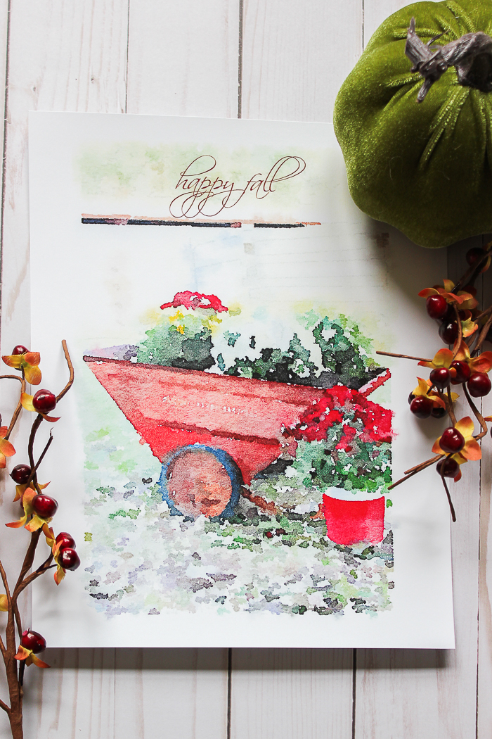 Free Fall Mums Watercolor Printables - free and easy fall decor!