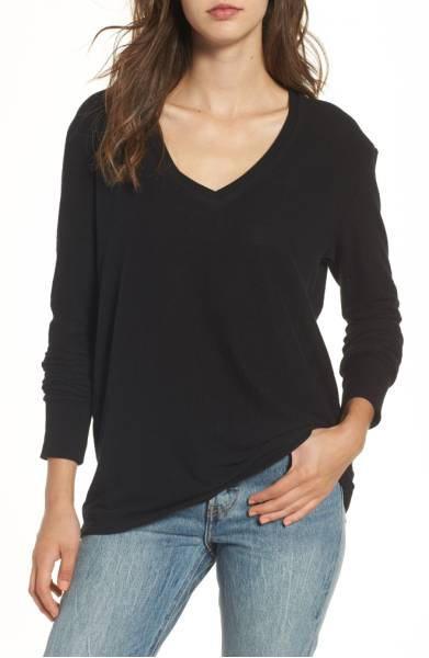 Best Sweaters for Fall Under $50: Cozy V-Neck Sweater with Push-Up Sleeves
