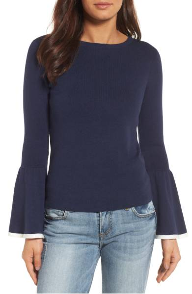 Best Sweaters for Fall Under $50: Bell Sleeve Dressy Sweater