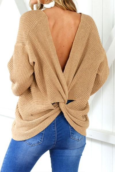 Best Sweaters for Fall Under $50: Oversized Sweater for Fall with Back Detail