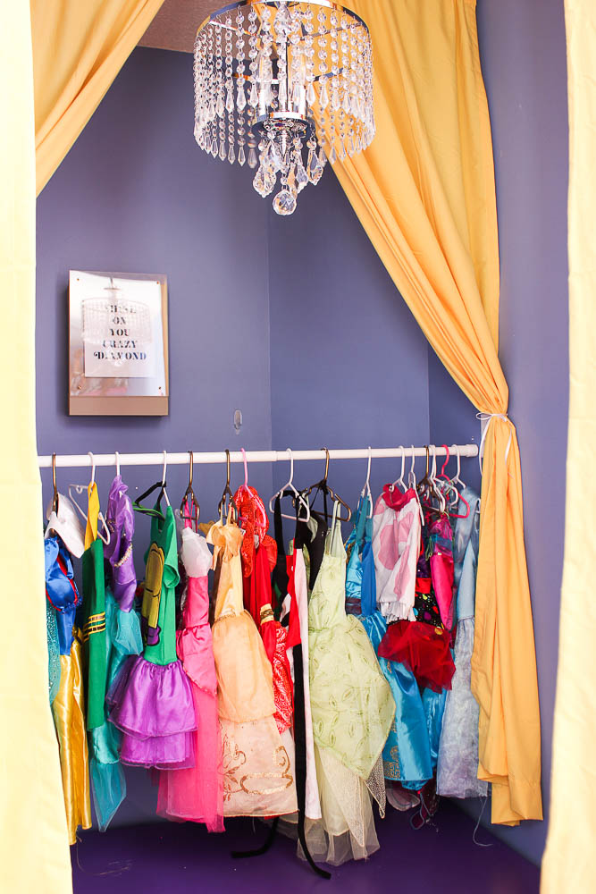 How to Build a Stage - dress-up clothes storage - Rain on a Tin Roof