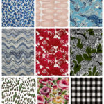 Over 50 cheap and affordable home decor and upholstery fabrics that are less than $15 per yard - greens, blues, pinks, reds, grays and more.