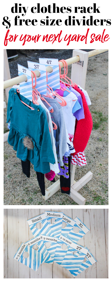 Homemade Clothes Racks for Yard Sales and Extra Storage - Rain on a Tin Roof