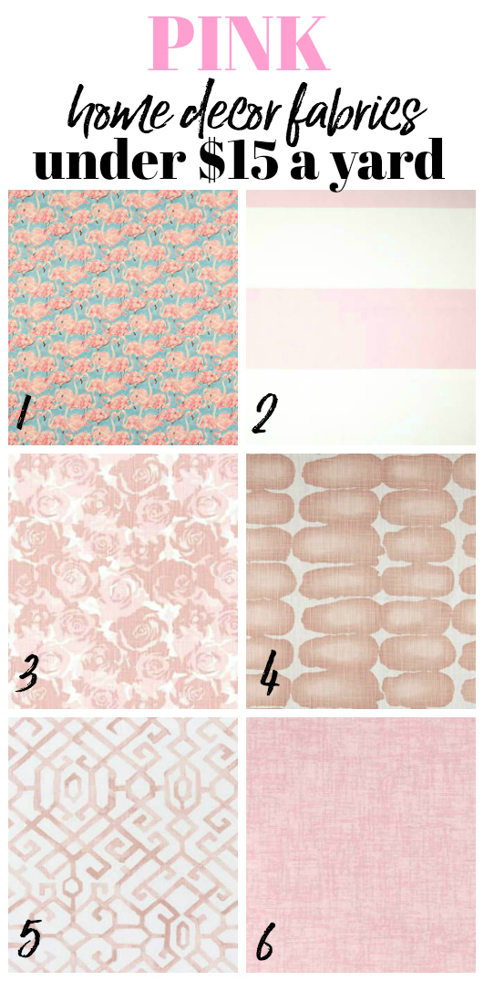 Discount Upholstery Fabric - Pink Home Decor Fabric - Rain on a Tin Roof
