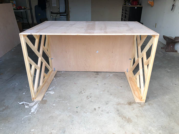 Easy Desk Ideas: How to build a chippendale desk from readymade chippendale panels.