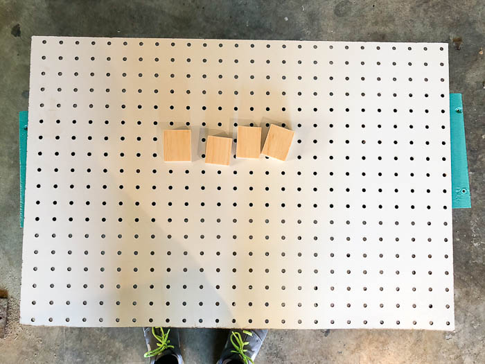 Pegboard in back of drop down desk - Rain on a Tin Roof