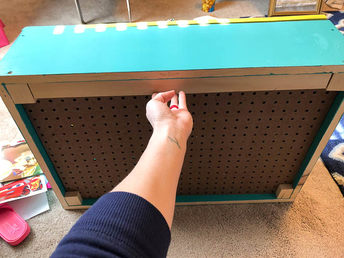 Space Saving DIY Wall Mounted Flip Down Desk - Rain on a Tin Roof