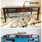 How to Make an Ottoman Out of An Old Coffee Table - easy DIY project for your living room.