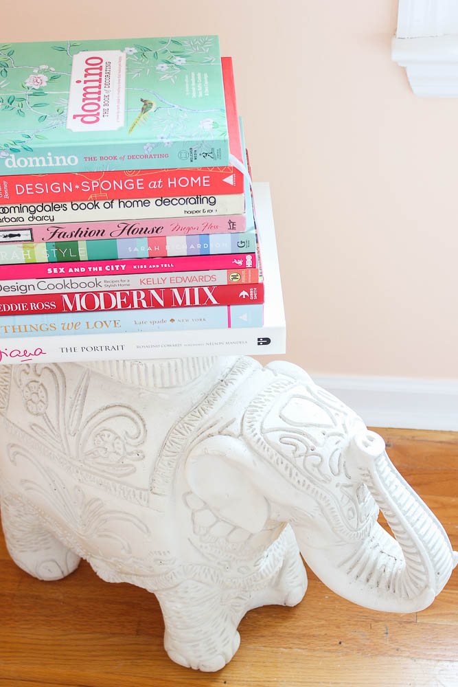 Home Office Decor Ideas - stack colorful books together.