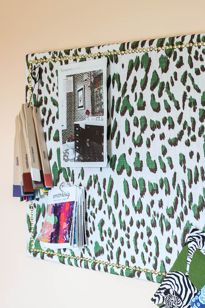 Easy Home Office Makeover Idea: DIY Fabric Covered Bulletin Board