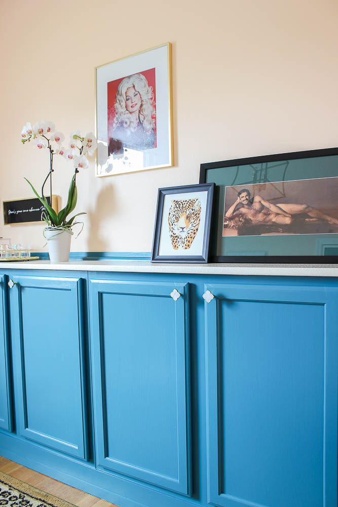 Home Office Makeover with Budget-Friendly DIY Projects - built-ins made from stock cabinetry.