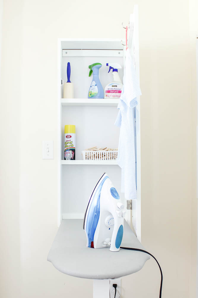 Mudroom - Laundry Room Ideas - Ironing Center Mounted on Wall