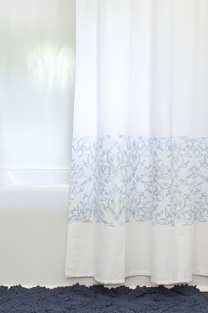 Blue and White Bathroom Decor