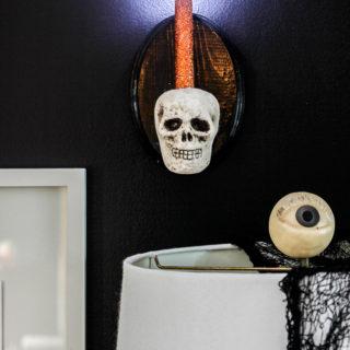 DIY Skull Sconce