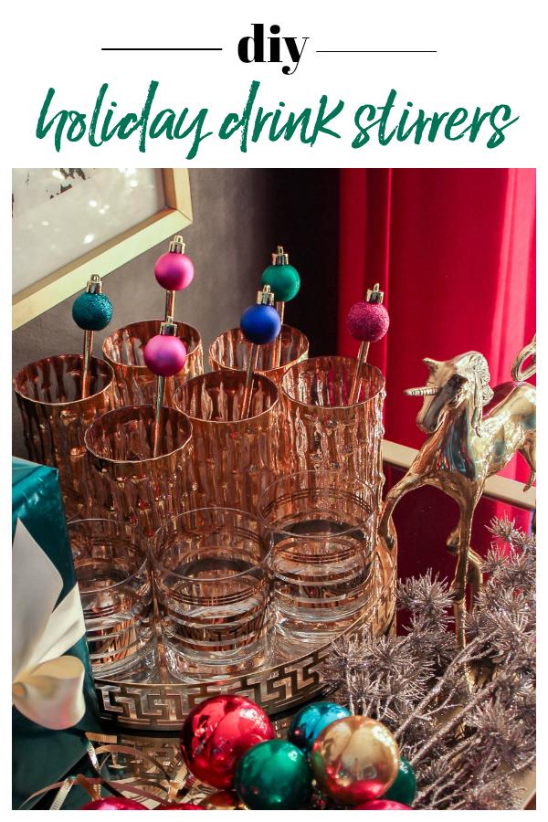 DIY Holiday Drink Stirrers