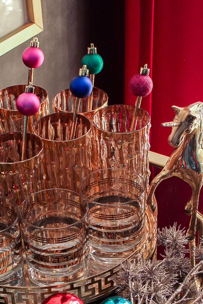 Christmas Ornament Drink Stirrers