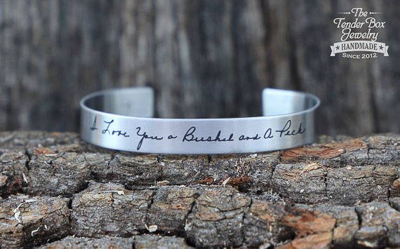 Unique Personalized Gifts - Custom Handwriting Bracelet