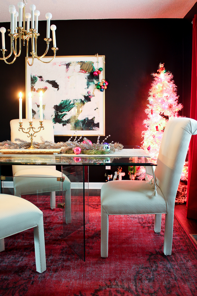 Colorful Christmas Dining Room