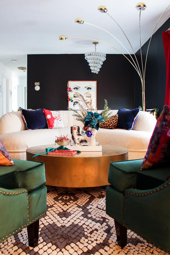 Colorful Christmas Living Room