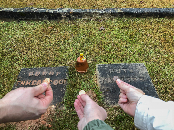 Buddy Threadgoode and Ruth Jamison's Graves from Fried Green Tomatoes Movie in Juliette, Georgia