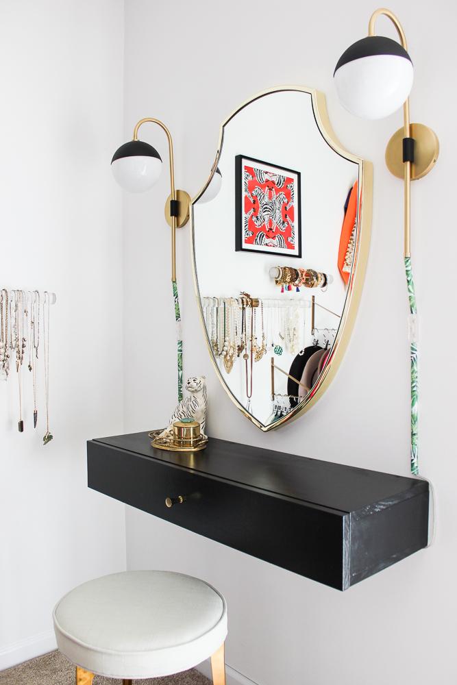 DIY Makeup Vanity Table with Storage