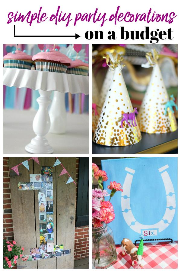 Simple DIY Party Decorations