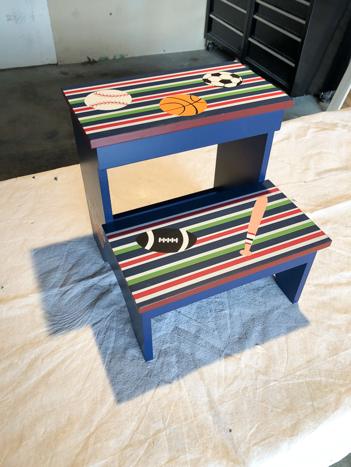 Step Stool Makeover - Before