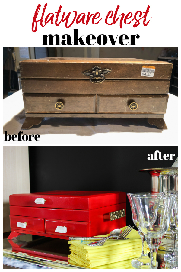 Flatware Chest Makeover