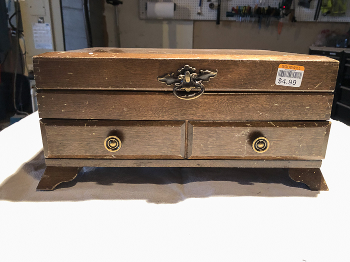 Dated Silverware Chest Makeover