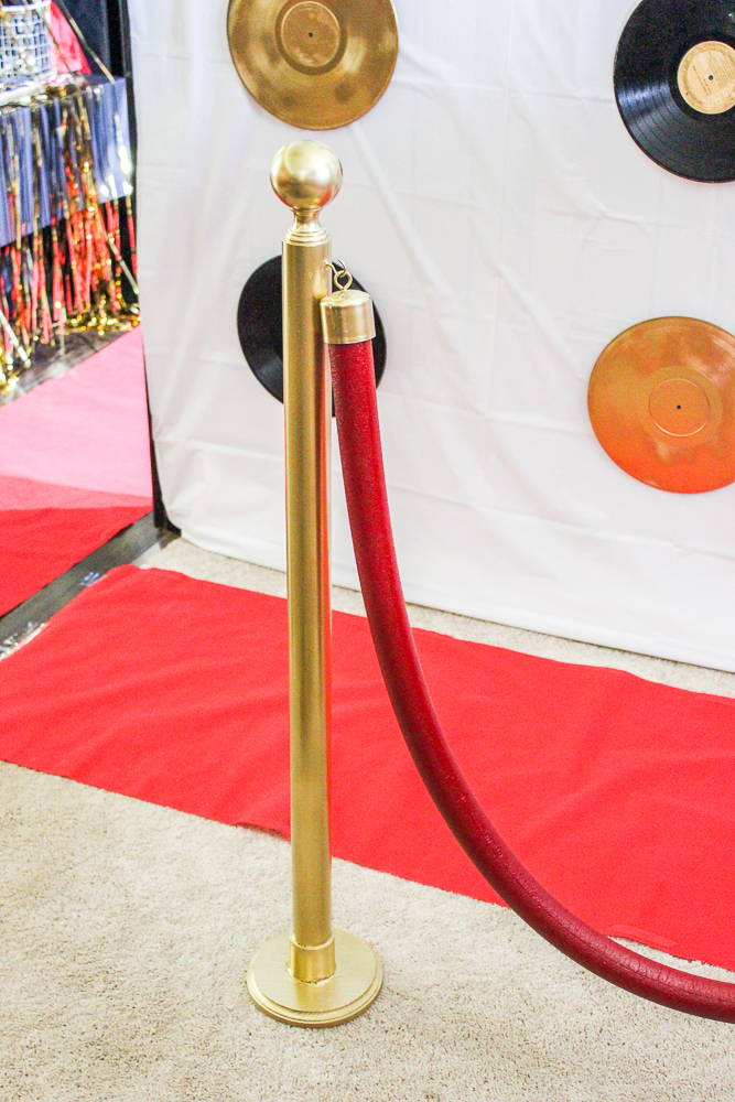 DIY Stanchions for Hollywood Party