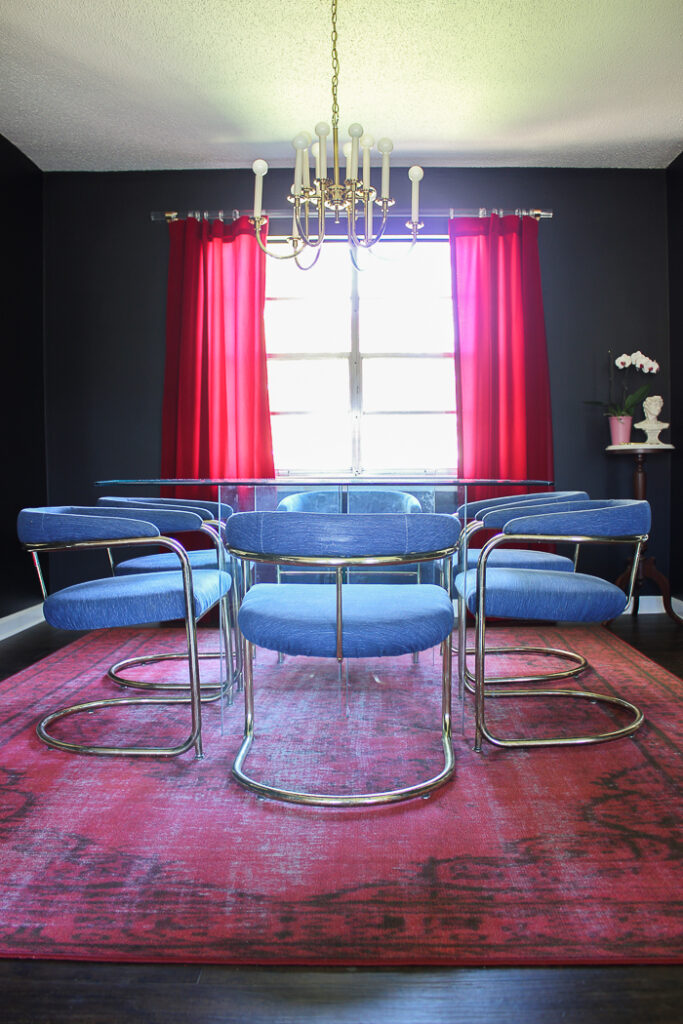 Black and White Dining Room Makeover