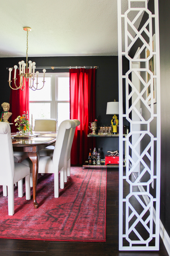Black And White Dining Room Design On A Budget