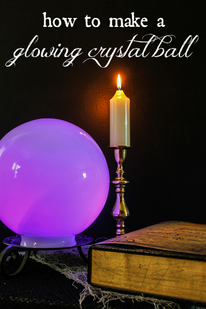 Witch Crystal Ball for Halloween Decoration