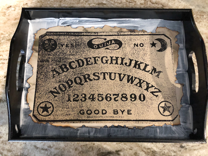 DIY Ouija Board Halloween Tray