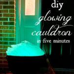 glowing cauldron