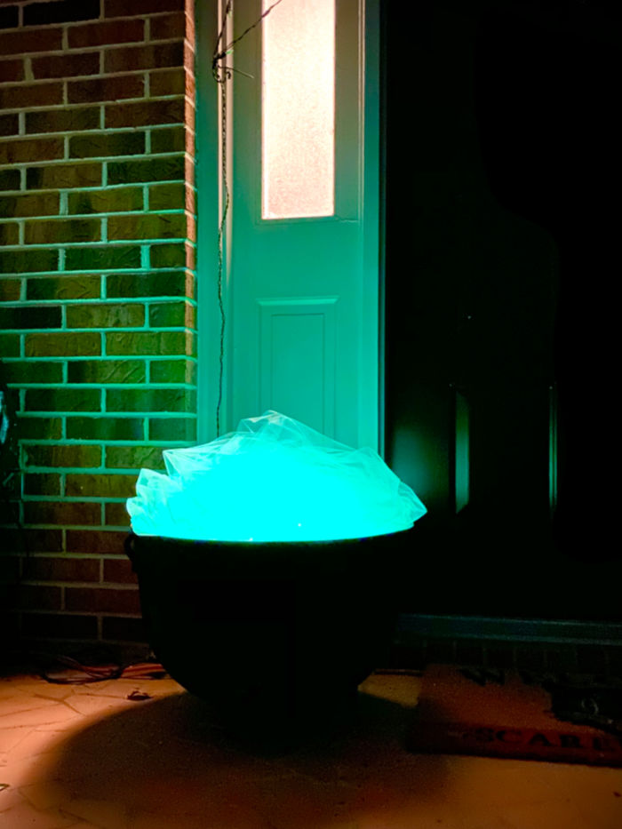 Glowing Witch's Cauldron for Halloween