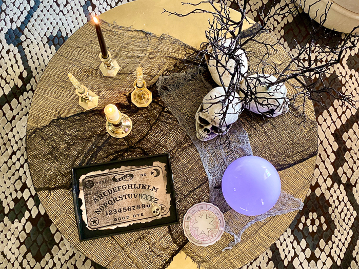 Psychic Table for Halloween