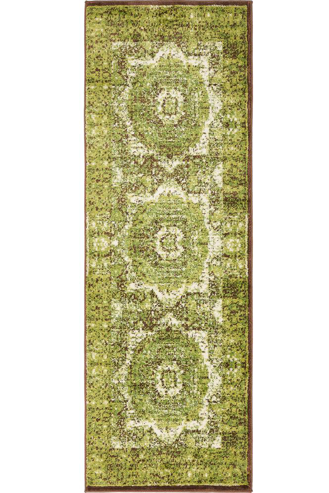 inexpensive rug runners - vintage style green rug