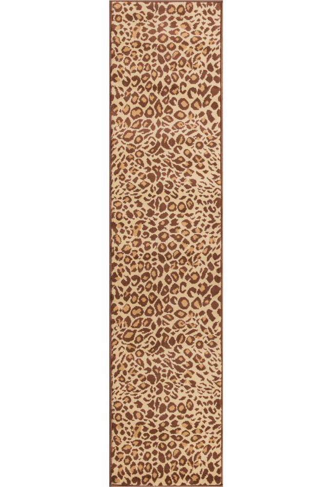 affordable hallway runners - leopard print runner rug
