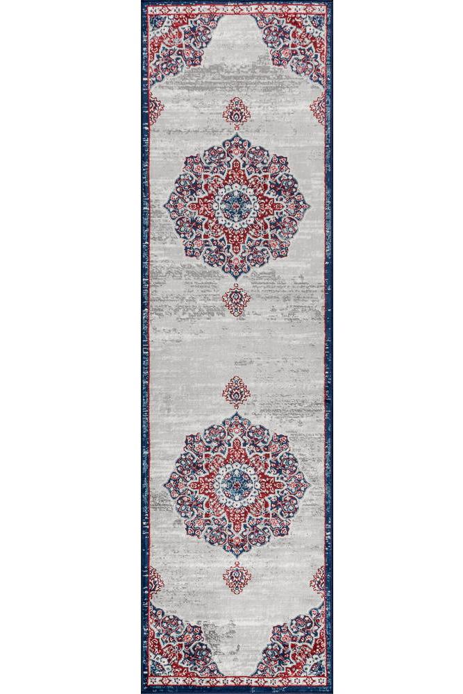 hallway runners - moroccan medallion rug