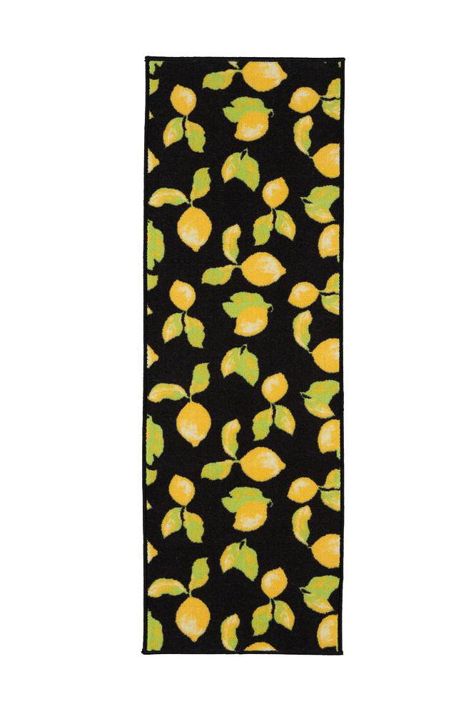 hallway runners - lemon pattern rug