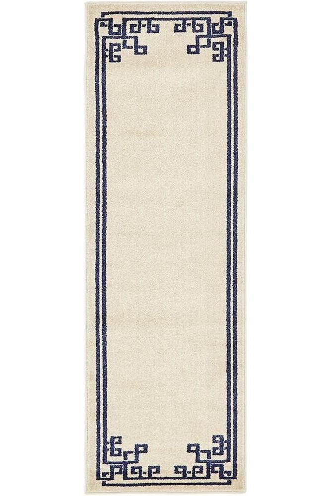 cheap runner rugs - greek key design