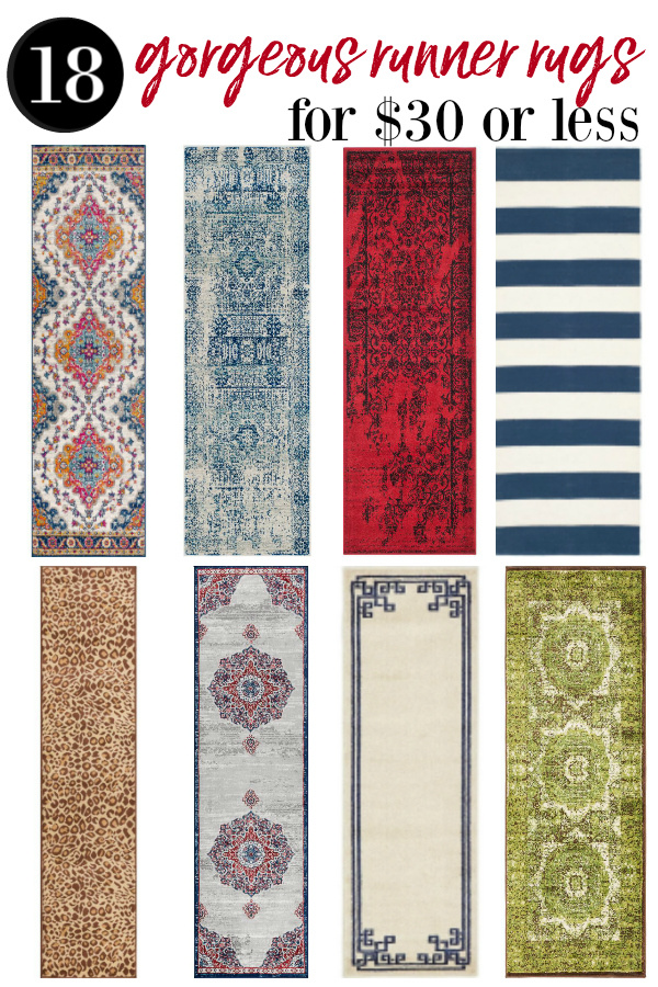 cheap runner rugs - various styles and colors