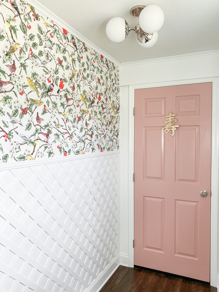 Lattice Ideas - using lattice as wainscoting.