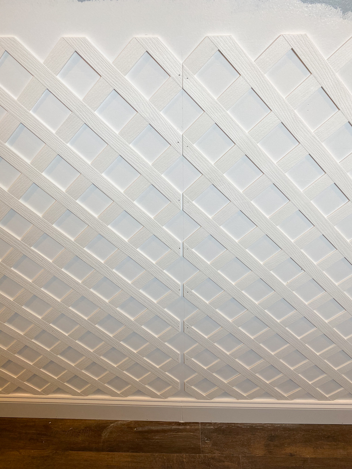 Lattice Wall Decor - using vinyl lattice as interior wall molding.